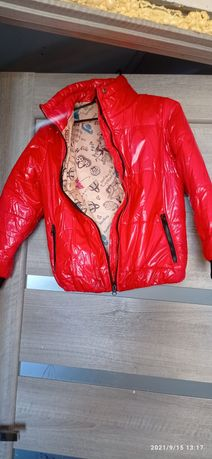 Куртка-бомбер на девочку 128р.
