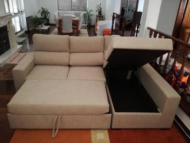 Sofá cama Roma com 260 cm, novo de fábrica
