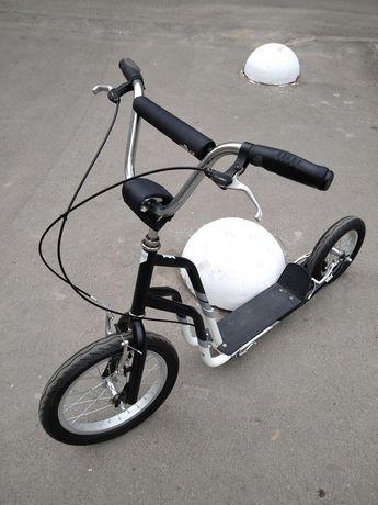 Самокат Yedoo City с большими, надувными колесами