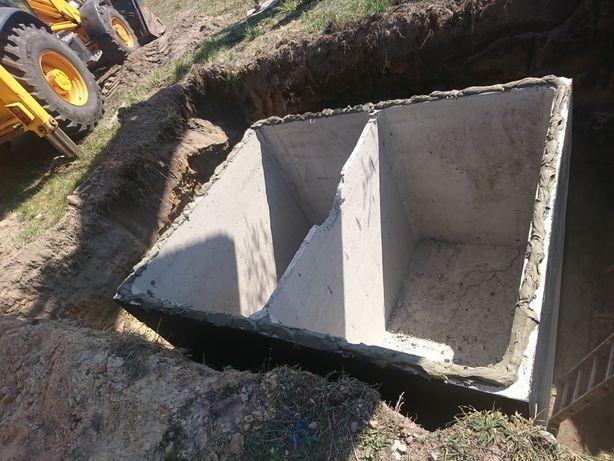 Szambo szamba zbiornik betonowy dwukomorowy 10m/3 Lublin Puławy Zamość
