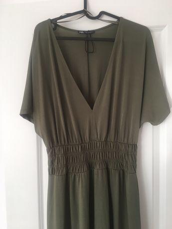 Zielona sukienka khaki Zara M