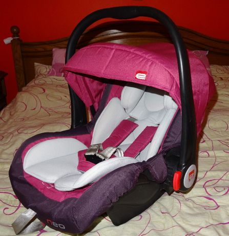 Nosidełko 0-13kg z wkładką dla niemowląt różowy fotelik kompletny bdb