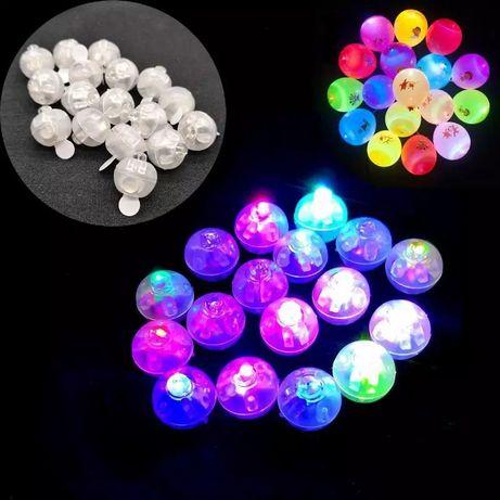 100 Mini leds coloridos para balões, decoração de festinhas...