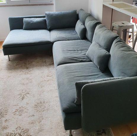 Sofá 4 lugares, c/chaise longue (SÖDERHAMN Ikea)