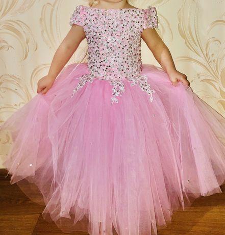 Прокат аренда платья на девочку 2,3,4,5,6,7,8,9,10 детское платье 104