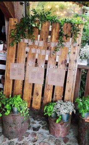 Rustykalny plan stołów