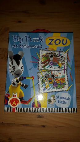 Puzzle do kolorowania Alexander Zou+kredki 67x47