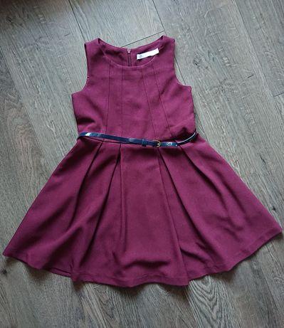 Sukienka elegancka, odświętna, na Święta, bordowa, cool club, r. 110