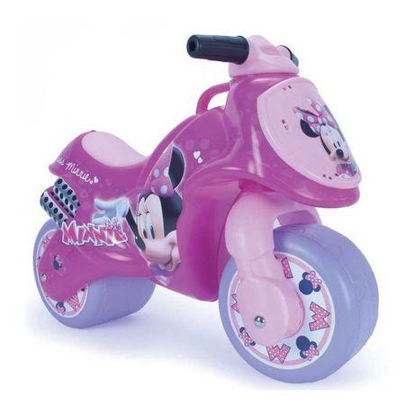 słodki różowy motor jeździk rowerek biegowy z myszką Minnie Miki