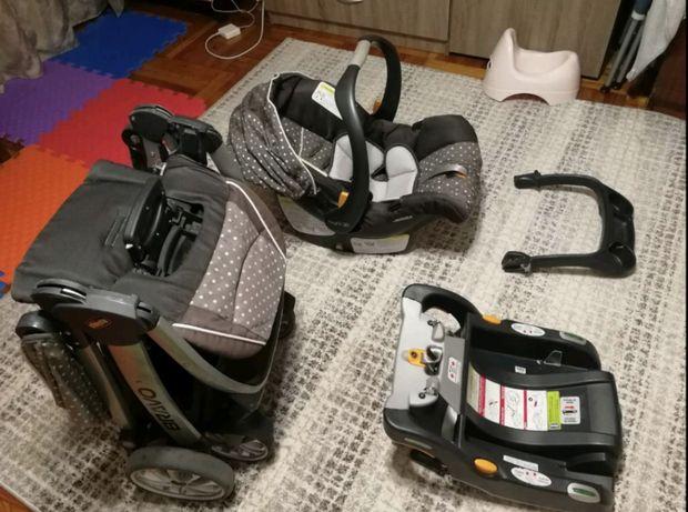 Автокресло и коляска chicco bravo trio travel system
