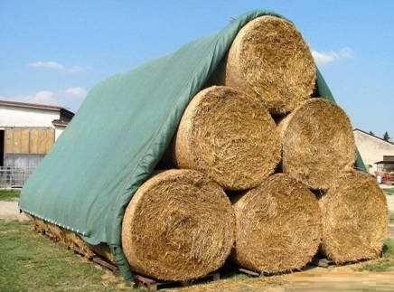 Fliz ochronny na sterty siana/słomy AGROWŁÓKNINA plandeka 15,6x25m