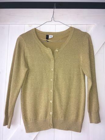 Sweter rozpinany H&M rozm S złoty na święta - wysyłka paczkomat za 1 z