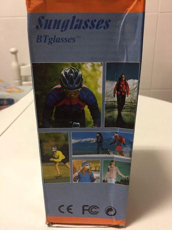 Óculos BTT com auscultadores