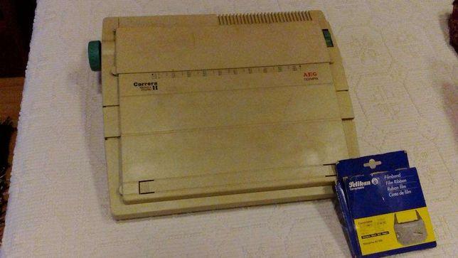 Máquina de escrever eletrónica AEG Olympia Carrera II