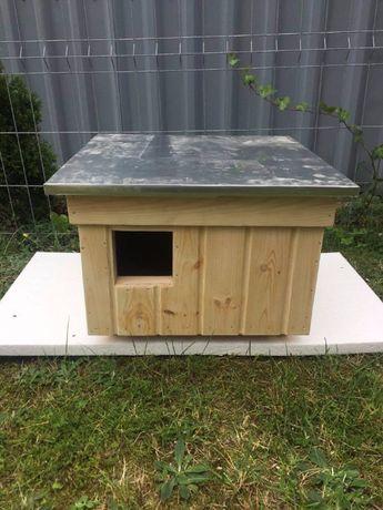 Domek buda dla kota ocieplana drewniana skrecona
