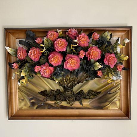 Картина з шкіри «Троянди»