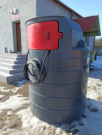 Dwupłaszczowy zbiornik na ropę olej napędowy 1500l