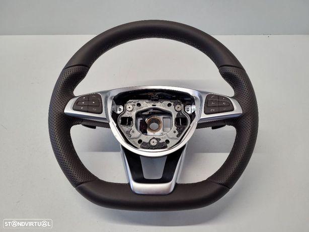 Volante castanho Mercedes A W176 C W205 CLA W117 CLS W218 GLA GLE