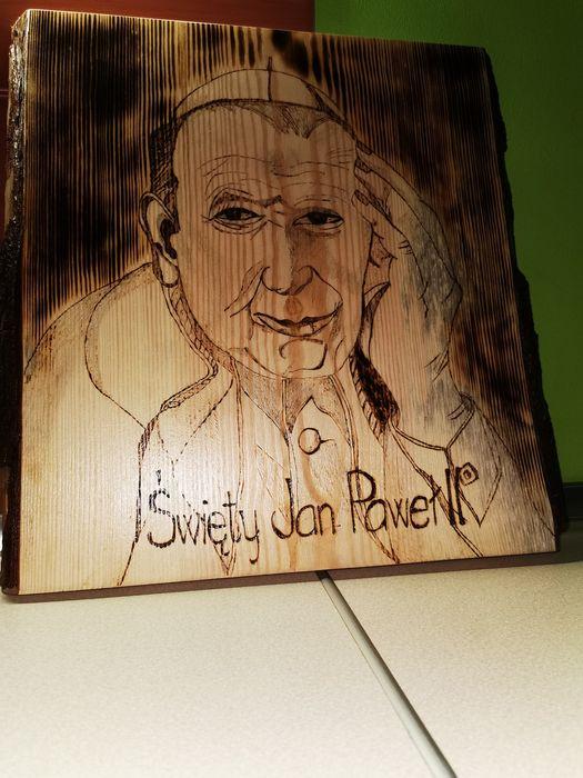 Obraz Jana Pawła II ręcznie wypalany Moszczenica - image 1