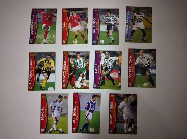 Cartas Panini - Mega Craques do Futebol Português 2002/2003 & 2003/200