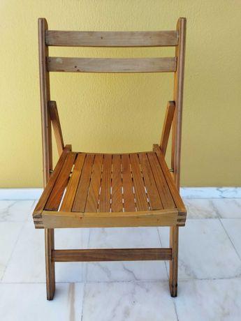 Cadeira Madeira Dobrável