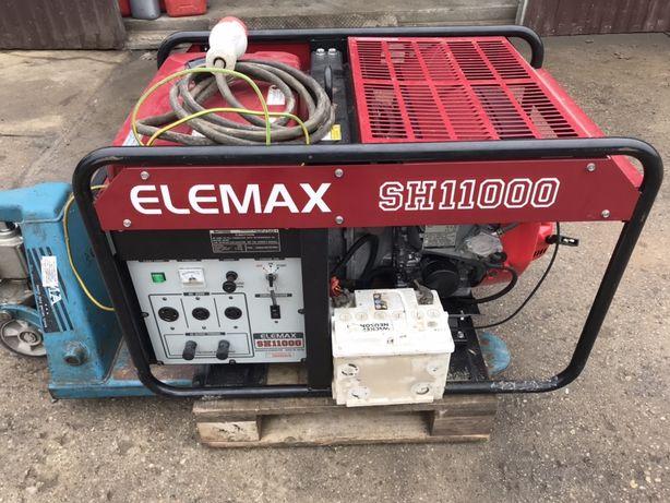 Agregat prądotwórczy HONDA SH11000 AVR z rozruchem jak nowy 9,5 KW