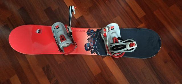 Deska snowboardowa factory 132cm z wiązaniami nidecker