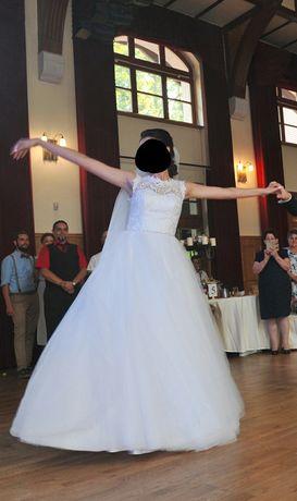 Suknia Ślubna Śliczna, pasek biżuteryjny w pasie!