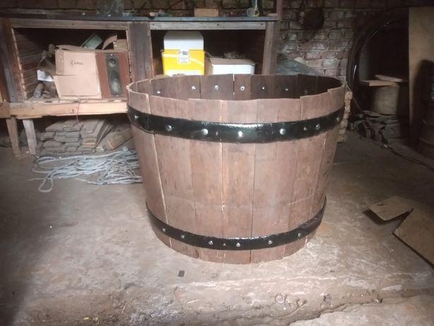 Donica drewniana dębowa beczka