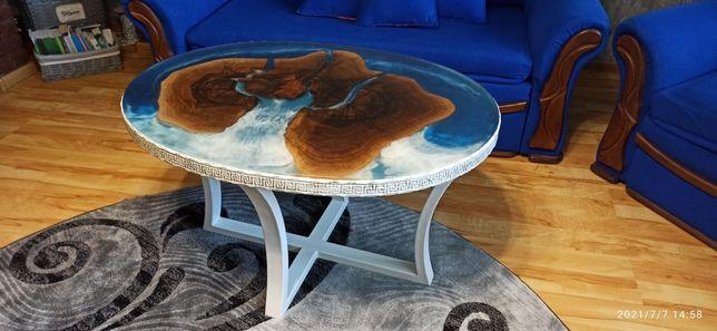 Стол кофейный (Гостиный) с эпоксидной смолы ручной работы.