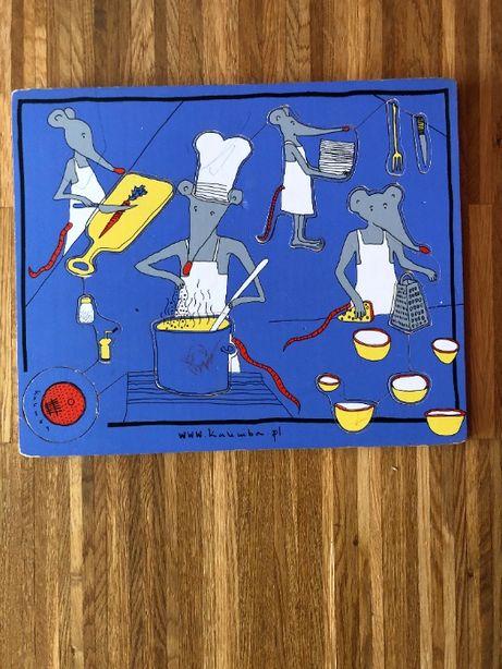 Układanka/puzzle dla dzieci, Myszy gotują, Kalimba