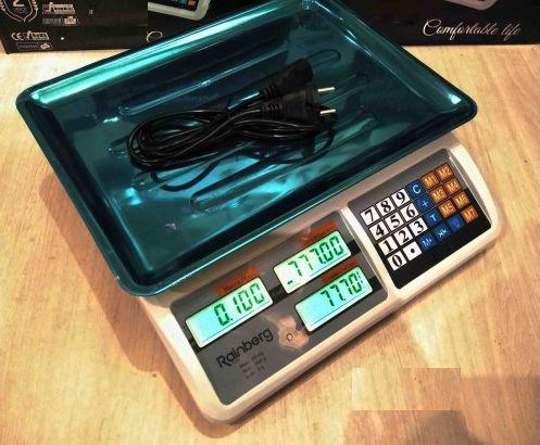Весы торговые электронные Rainberg RB-311 до 55 кг настольные