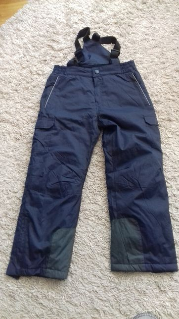 Spodnie narciarskie 140cm granatowe