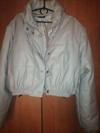 """Куртка """"Пуффер"""" из экокожы"""