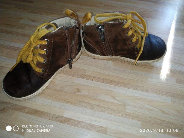 Детские ботинки замш кожа