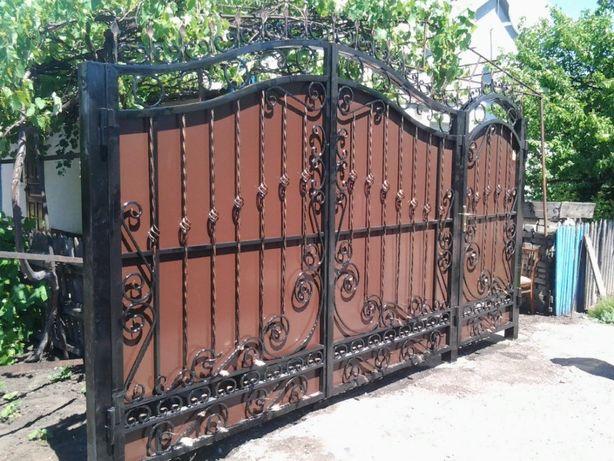 Ворота кованые (калитка внутри) Донецк, Макеевка 57000 руб