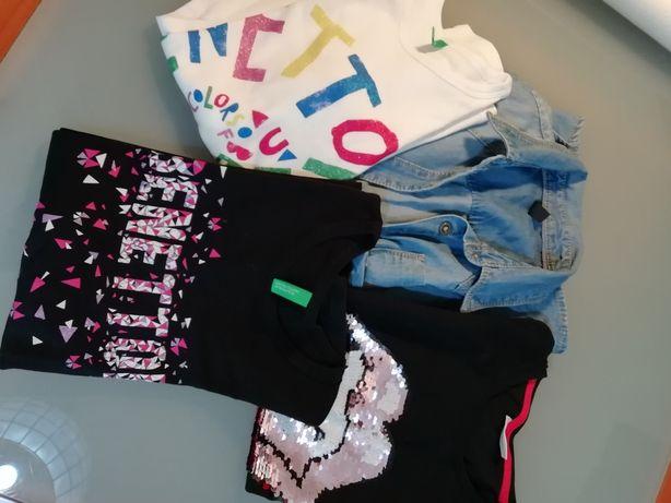 4 Camisas, Tshirts, Sweatshirts Benetton The Rolling Stones Como novas