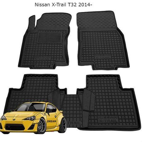 Коврики резиновые на Nissan X-Trail/Almera/Qashqai/Leaf/Tiida/Note
