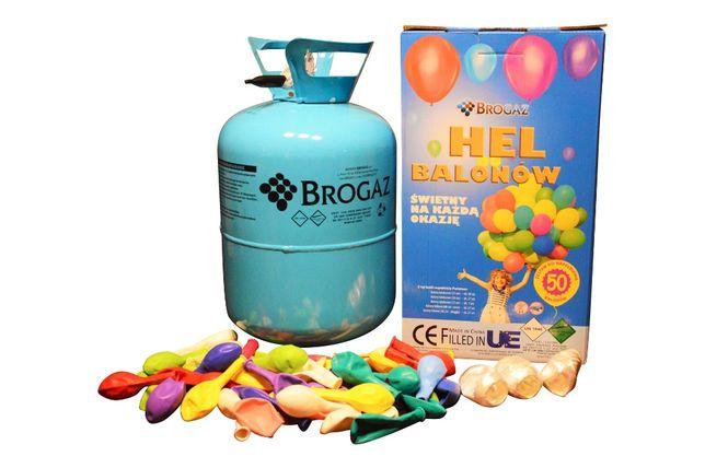 Butla z Helem, Hel do pompowania na 50 balonów + 50 balonów GRATIS