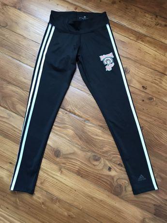 Legginsy czarne sportowe marki Adidas rozmiar xs stan idealne używane