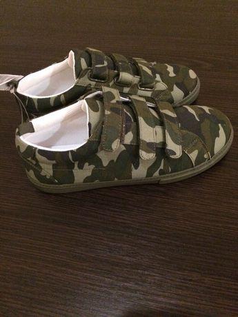 Мокасины слипоны летние туфли на липучках GAP США