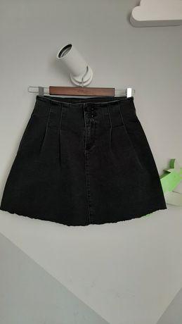 Spódniczka rozkloszowana mini jeansowa dżinsowa