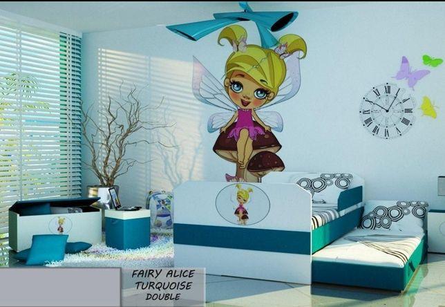 Łóżko piętrowe dla dzieci z motywem wróżki