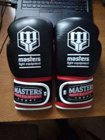 Rękawice bokserskie MASTERS 12 oz skóra naturalna NOWE