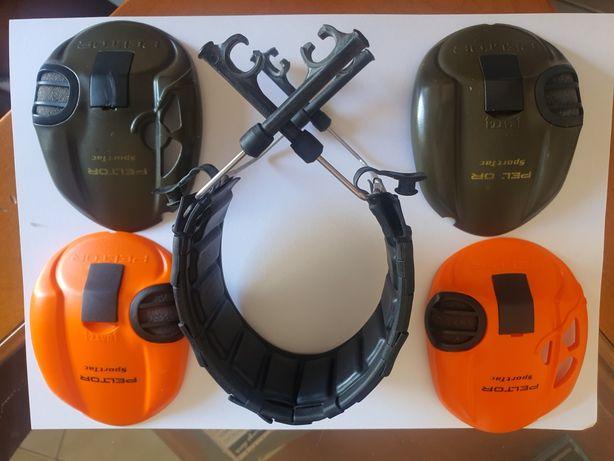 Peltor Sporttac - tampas das conchas e suporte de cabeça