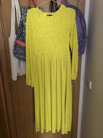 Vestido midi Zara tamanho S