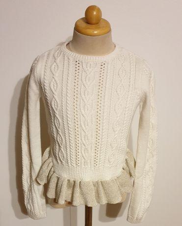 Lulurain piękny sweterek dziewczęcy stan idealny rozm.116