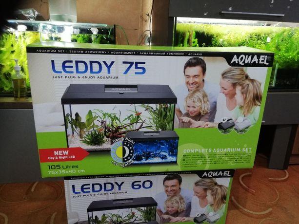 Aquael Leddy Set Pap-75 Biały 105l Dzień/Noc akwarium 105l