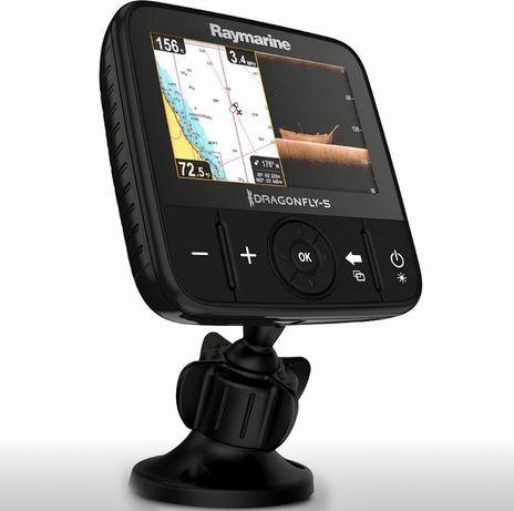 Sonda GPS Barco / Kayak Pesca Raymarine Dragonfly 5 PRO CHIRP Com Tran
