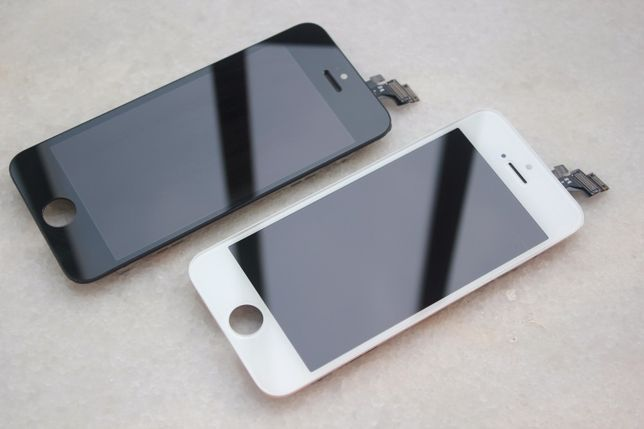 Ecrã LCD + Touch Screen + vidro para Apple iPhone 5 Branco ou Preto.